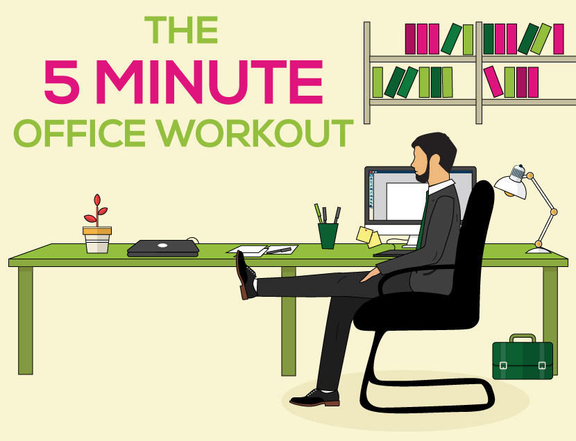 5 minute office workout
